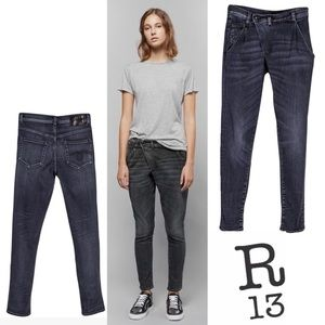 R13 X-OVER Jeans in Anthracite